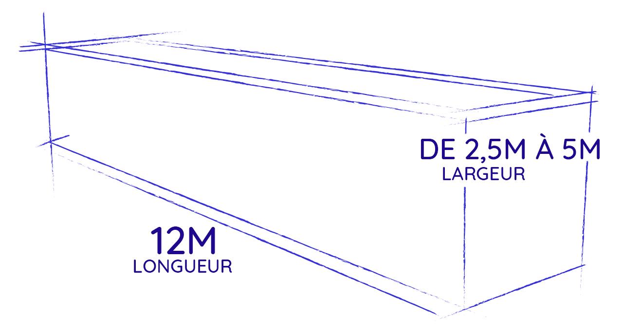 piscine container 12 mètres