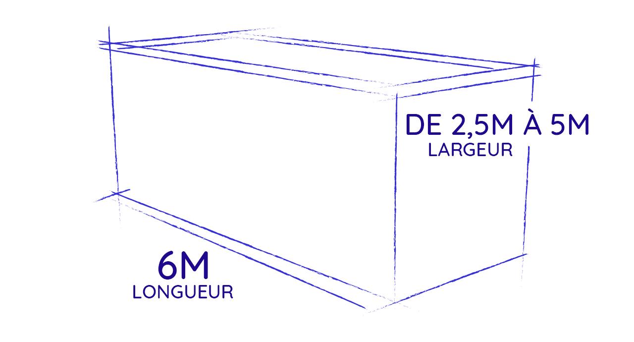 piscine container 6 mètres